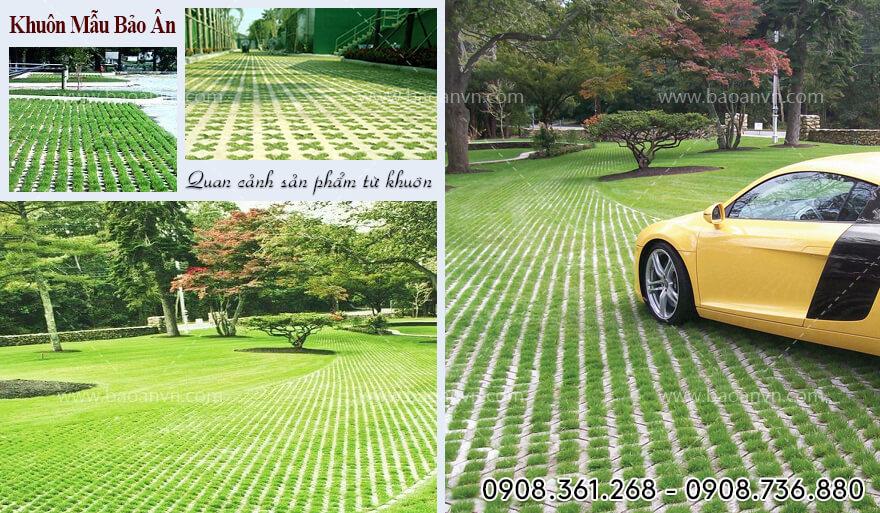 khuôn gạch trồng cỏ