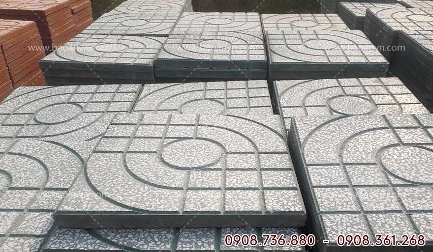 quy trình sản xuất gạch terrazzo bằng khuôn nhựa