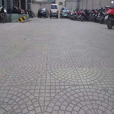 Khuôn gạch rẻ quạt 6 vòng  300x300x30 - Mã 002036