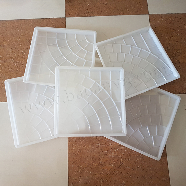 Khuôn gạch rẻ quạt 6 vòng 400x400x30 - Mã 002037