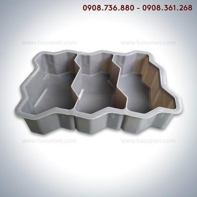 Khuôn gạch ziczac 3 ngăn 8cm - Mã 001137